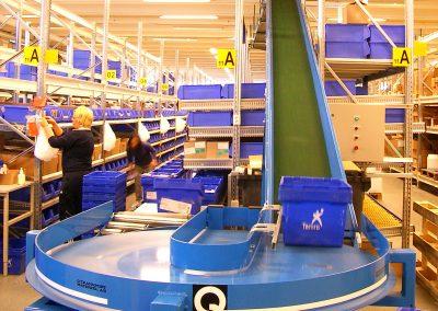 Handling of plastic boxes