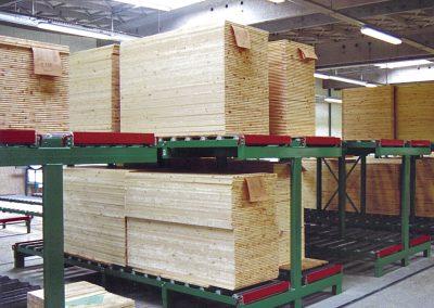 Two-level storage racks