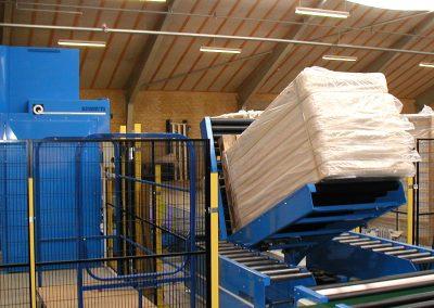 Tilting of stack of mattresses