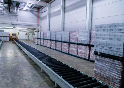 Conveyors in cold store