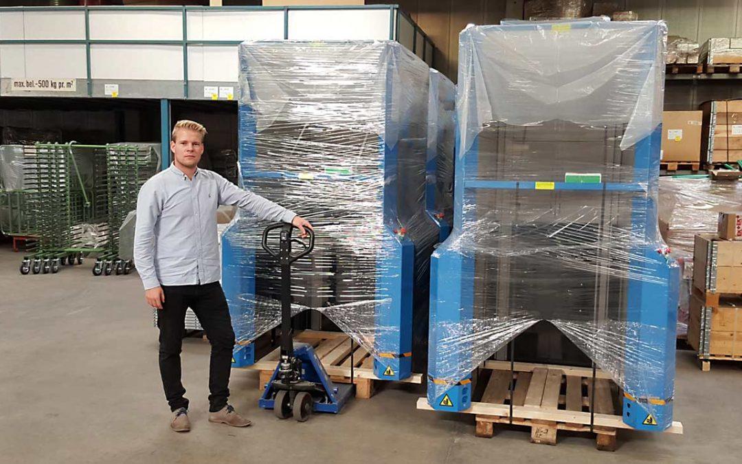 Q-System satser på udlandet med PallEvator pallemagasinerne