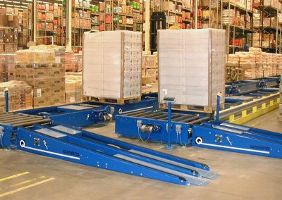 Infeed of pallets in 3PL