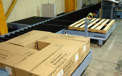 Linpac Plastics Chose a Q Pallet Conveyor System for Their Finished Goods